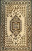 Mad Mats Oriental Turkish Indoor/Outdoor Floor Mat, 1.2m by 1.8m, Brown and Black