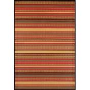 Mad Mats® Stripes Indoor/Outdoor Floor Mat, 0.8m by 2.4m Runner, Warm Brown