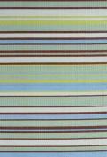 Mad Mats Stripes Indoor/Outdoor Floor Mat, 1.8m by 2.7m, Grey Aqua