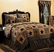 IHF Vintage Star Black Bedding Pillow Sham 50cm x 70cm Cotton