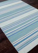 Jaipur Living Kiawah Reversible Flatweave Striped Blue Area Rug