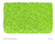 The Rug Market Shaggy Raggy Lime Area Rug Size 1.2mx1.2m ROUND