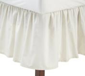 "Fresh Ideas Bedding Ruffled Bedskirt, Classic 14"" drop length, Gathered Styling, King, Ivory"
