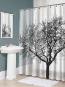 Splash Home Tree EVA Shower Curtain, 180cm by 180cm , Black