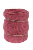 Renaissance 2000 Ribbon, 15cm , Pink Burlap with Wire