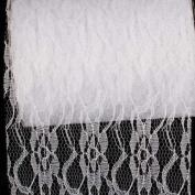 Pure White Designer Lace Craft Ribbon 15cm x 55 Yards