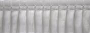 Pleated Trim Gathered Pleated Grosgrain Ribbon Roll, White, 25-Yard
