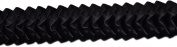 Pleated Trim Ruffeled Pleated Grosgrain Ribbon Roll, Black, 25-Yard