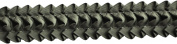 Pleated Trim Ruffeled Pleated Grosgrain Ribbon Roll, Olive, 25-Yard