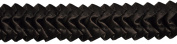 Pleated Trim Ruffeled Pleated Grosgrain Ribbon Roll, Brown, 25-Yard