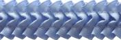 Pleated Trim Ruffeled Pleated Grosgrain Ribbon Roll, Light Blue, 25-Yard
