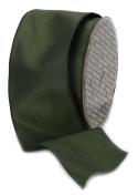 Ampelco Ribbon Company French Wired 27-Yard Taffeta Ribbon, 6.4cm , Forest Green