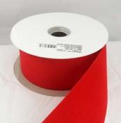 Versatile Velvet Red Indoor/Outdoor Wired Craft Ribbon 5.1cm x 50 Yards