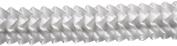 Pleated Trim Ruffeled Pleated Grosgrain Ribbon Roll, White, 25-Yard