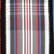 Pleasantly Plaid Grey and Black Tartan Wired Craft Ribbon 3.8cm x 22 Yards