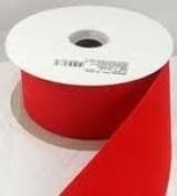 Versatile Velvet Red Indoor/Outdoor Wired Craft Ribbon 7.6cm x 50 Yards