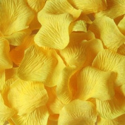 1000pcs Yellow Silk Rose Petals Artificial Flower Wedding Favour Bridal Shower Aisle Vase Decor Confetti