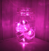 ~10 Pack~Hot Pink LED Submersible Battery Operated Tea Lights~Wedding, Party, Floral Arrangement, Centrepiece~BlueDot Trading
