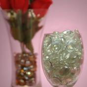 Clear Flat Marbles (1lb Bag)