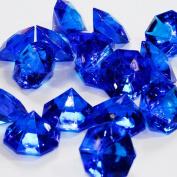 Royal Blue 25 Carat Acrylic Diamonds - 36 Acrylic Gems - Big Bling