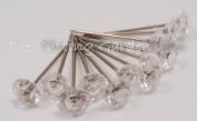 Crystal Clear Diamond Pixie Corsage / Boutonniere Pins 1.9cm 100pcs