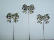 Bow - Peridot Stones