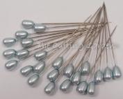 Corsage / Boutonniere Pin 5.1cm Hydrangea (Light Blue) Pear Pearl 24 per pk