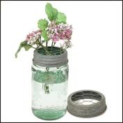 Mason Jar Chicken Wire Flower Frog Lid