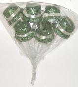 Green Glitter Irish Leprechaun Hats Floral Picks, Set of 6