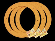 3 Pack, 30cm Biodegradable Floral Craft Ring, Ez Glueable Wreath Form, for Photo Frame, Candle Ring, Etc