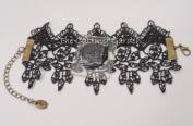 Corsage Bracelet - Vintage Lace Lolita - Black