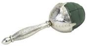 Oasis Elegant Bouquet Holder - Silver Metallic Leaf Design