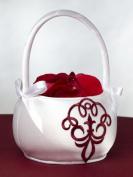 Scroll Flower Basket, Red