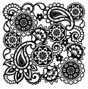 Viva Décor 400600200 Paisley Background Stencil