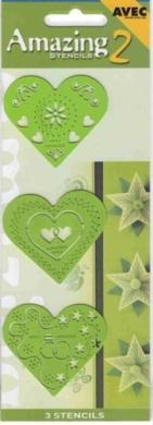 Ecstasy Crafts Amazing Stencils - Heart