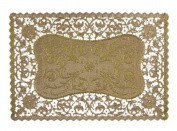 Royal Rectangular Foil Placemats, 25cm x 37cm , Gold, Pack of 6