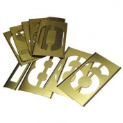 Brass Stencil Number Sets - 6.4cm 15 pcs set gothic style figur