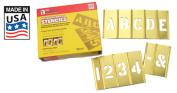 Brass Stencil Letter & Number Sets - 15cm 45 Piece Letter & Numbers