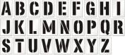 Letter Stencil Set, A-Z, Reusable Polyethylene Stencil, 63 mil Thick, 26 Stencils / Kit, 10cm x 15cm