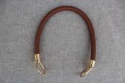 Coffee 13mm Width DIY Handbag Accessories Braided Pu Leather Purse Handles Handbag Straps Detachable Bunckles Length 23.6 Inches