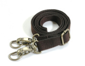 Byhands Shoulder Cross Strap/Purse Handle with Bronze Ring