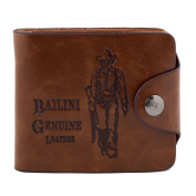 Catalina Men's Genuine Leather Bifold Wallet Credit ID Card Purse