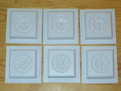 Set of six 4x4 Rosette Design Tile Trim Moulds #0932-6
