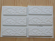 Set of six 2.75x8 Vine and Leaf Runner, Wall Tile Trim Moulds #0160-6
