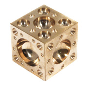 Hobby & Craft Polished Brass 3.8cm Cube Metalworking 61 Domes Dapping Block