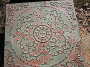 Stepping Stone Mould - Giant English Victorian Flower Design Mould, Concrete - #SS-2424B