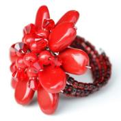 Red Jasper Flower Gemstone Ring by Flower GemStone