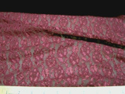 Discount Fabric Stretch Metallic sheen Lace Burgundy Floral LC324