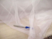 Fabric Stretch Voile White 270cm Sheer