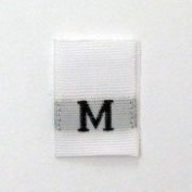 Size M (Medium) Woven Clothing Size Tags